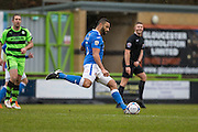 Eastleigh's Jamie Turley on the ball during the Vanarama National League match between Forest Green Rovers and Eastleigh at the New Lawn, Forest Green, United Kingdom on 20 February 2016. Photo by Shane Healey.