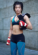 Boxing 4 1/2 years, about to turn Pro MMA, and then pro boxing. Won golden gloves 112 last year. Nokia Jujitsu panamas. ACC straw weight belt. black belt tae kwon do. I started boxing to get better with my hands in MMA.  When I was 6 all I wanted was to be a female Bruce Lee, I wouldn&rsquo;t stop taking about it. I had to nag my parents for 5 years to martial arts, they wanted me to do piano. I use to run away and sneak into the tae kwon do school till finally  5 years later my parents let me take classes. It turned out I was really good at it and started in tournaments.  <br /> With boxing I really like the awareness of my body where my body is in space, how I distribute my weight and especially when I box I feel like I&rsquo;m dancing that I&rsquo;m expressing my self. I&rsquo;m kind of dancing with the person I&rsquo;m fighting with. It is kind of like a game to me, a very exciting game with high stakes and I really enjoy that. I&rsquo;m relaxed but there is a lot at stake. As a woman I don&rsquo;t really see it as a woman I just really like to do what every one else does. I like how other women fight, like Amanda Serrano and Heather Hardy I really love. I love that women tend to be very technical when they fight. I pay a lot of attention to detail, when I throw punches, keeping my elbow down, and snapping my punches and chambering them quickly. It is a little like tae kwon do for your hands but with more intensity. Boxing is more a fight with strategy, tae kwon do is more a game of points with strategy. I&rsquo;m more of a finisher I don&rsquo;t look for points I look for total submission. I don&rsquo;t notice the empowering element I guess i&rsquo;ve always felt empowered.