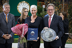 Best event of the Year 2015, CHIO Aachen, Kemperman Frank, (NED),  Van der Net Inge, (NED)<br /> L'Année Hippique awards<br /> CHI de Genève 2015<br /> © Hippo Foto - Dirk Caremans<br /> 12/12/15