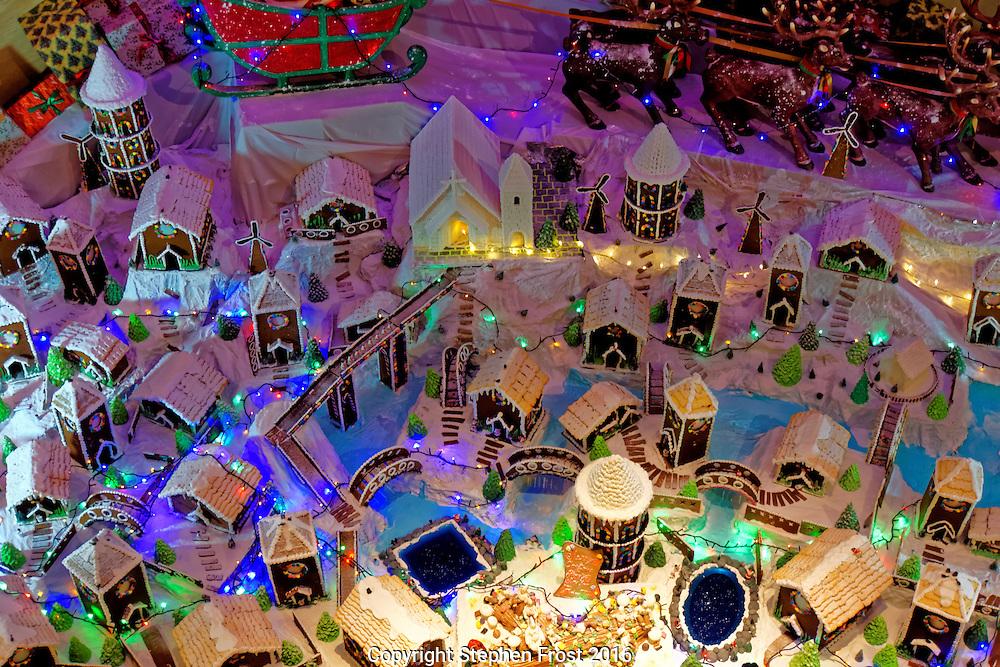 Gingerbread Village Christmas Scene