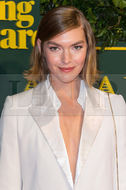 © Licensed to London News Pictures. 03/12/2017. London, UK. ARIZONA MUSE attends the London Evening Standard Theatre Awards 2017 held at the Theatre Royal, Dury Lane. Photo credit: Ray Tang/LNP