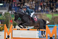 Delestre Simon, (FRA), Qlassic Bois Margot<br /> Credit Suisse Grand Prix<br /> CHI de Genève 2016<br /> © Hippo Foto - Dirk Caremans<br /> 08/12/2016