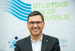 Roman Dobnikar, new president of AZS during press conference when Slovenian athletes and their coaches sign contracts with Athletic federation of Slovenia for year 2016, on February 25, 2016 in AZS, Ljubljana, Slovenia. Photo by Vid Ponikvar / Sportida