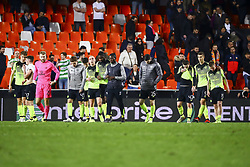 February 21, 2019 - Valencia, Spain - Celtic players after second leg of their last 32 UEFA Europa League match between  Valencia CF v AS Celtic at Mestalla Stadium on February 21, 2019. (Credit Image: © Jose Miguel Fernandez De Velasco/NurPhoto via ZUMA Press)