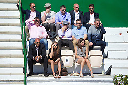 LIVERPOOL, ENGLAND - Friday, June 20, 2014: Spectators during Day Two of the Liverpool Hope University International Tennis Tournament at Liverpool Cricket Club. (Pic by David Rawcliffe/Propaganda)