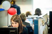 Operadoras del Call Center. Copec, 80 años. Santiago de Chile. 02-07-15, 11:50:16 (©Alvaro de la Fuente/Triple.cl)