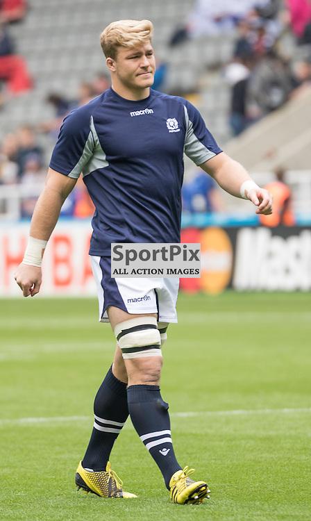 Scotland's Dave Denton during warm up. Scotland v Samoa, 10th October 2015