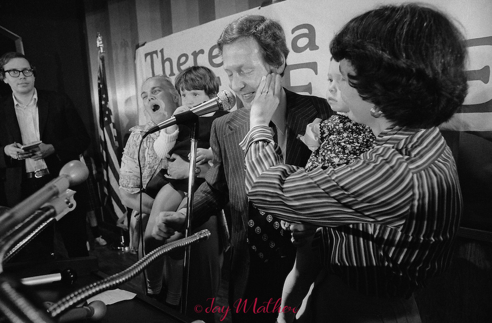 Mitch McConnell campaigns for the Jefferson County (KY) Judge Executive job in Louisville, KY, October/November 1977.  McConnell won the election and would serve in the position until 1984 when he was elected to the United States Senate where he continues to serve as the longest tenure Senator from Kentucky.   At the time of his election in Kentucky he was married to Sherrill Redmon.  His second wife, whom he married in 1993, is Elaine Chao, the former Secretary of Labor under George W. Bush (the first Asian American woman to serve in the Cabinet).  He has three daughters from his first marriage.