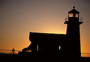 Santa Cruz lighthouse, lighthouse, Mountain Biking, Bicycling, cycling, sunset, California Coast, Pacific Ocean, Ocean, Sunset, California