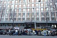 Roma, 25 Marzo 2013.Parte lo Tsunami tour per il diritto all' abitare. .I movimenti di lotta per la casa manifestano per le problematiche legate ai residence dell'emergenza abitativa davanti al Dipartimento Promozione dei Servizi Sociali e della Salute