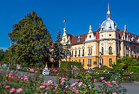 View of one of the many public buildings in the town of Brasov in the Transylvania region in Romania