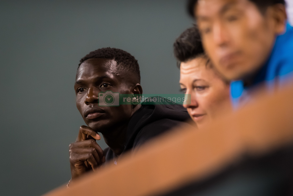 March 9, 2019 - Indian Wells, USA - Jermaine Jenkins, coach of Naomi Osaka, during her second-round match at the 2019 BNP Paribas Open WTA Premier Mandatory tennis tournament (Credit Image: © AFP7 via ZUMA Wire)