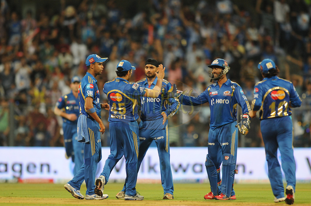 during match 40 of  the Indian Premier League ( IPL) 2012  between The Mumbai Indians and the Deccan Chargers held at the Wankhede Stadium in Mumbai on the 29th April 2012..Photo by Pal Pillai/IPL/SPORTZPICS.