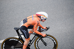 Anna van der Breggen at UCI Road World Championships Elite Women's Individual Time Trial 2017 a 21.1 km time trial in Bergen, Norway on September 19, 2017. (Photo by Sean Robinson/Velofocus)