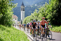 Megan Guarnier (USA) on Monte Zoncolan at Giro Rosa 2018 - Stage 9, a 104.7 km road race from Tricesimo to Monte Zoncolan, Italy on July 14, 2018. Photo by Sean Robinson/velofocus.com