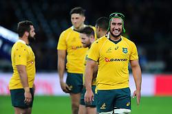 Leroy Houston of Australia is all smiles after the match - Mandatory byline: Patrick Khachfe/JMP - 07966 386802 - 08/10/2016 - RUGBY UNION - Twickenham Stadium - London, England - Argentina v Australia - The Rugby Championship.