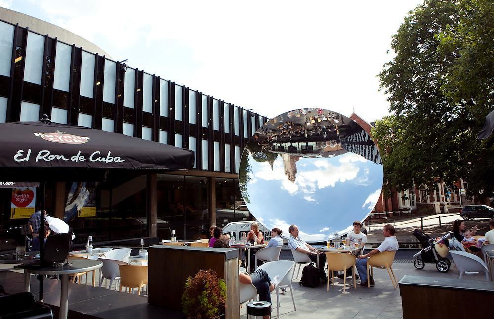 Public Art Piece 'Sky Mirror' by Anish Kapoor. Nottingham