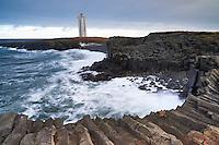 Kálfshamarsvík lighthouse, Northwest Iceland.