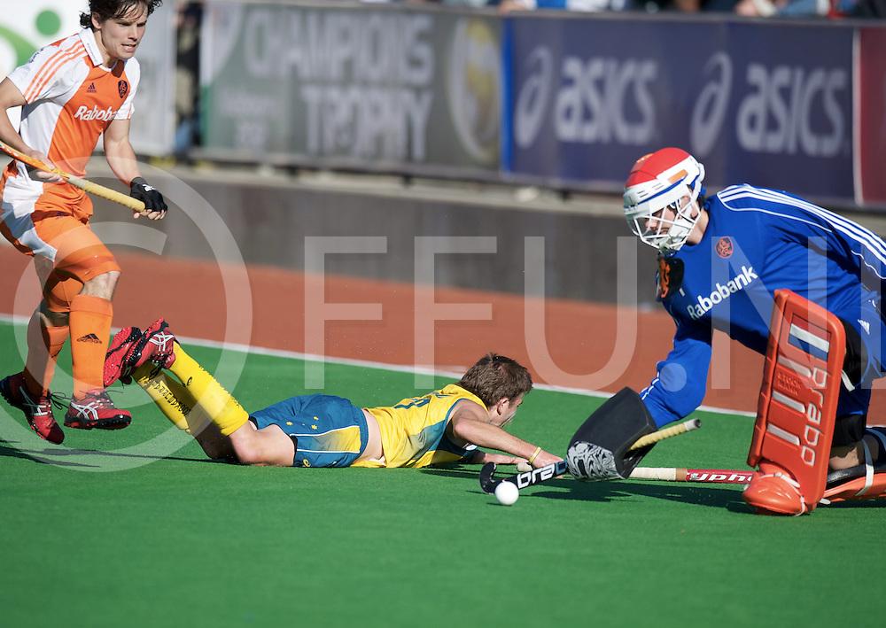 MELBOURNE - Champions Trophy men 2012<br /> Netherlands v Australia 0-0<br /> foto: Jaap Stockman hield zijn doel schoon..<br /> FFU PRESS AGENCY COPYRIGHT FRANK UIJLENBROEK