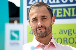 Aljaz Kos (director of Zavarovalnica Sava) at press conference of ATP Challenger Zavarovalnica Sava Slovenia Open 2018, on August 6, 2018 in Sports centre, Portoroz/Portorose, Slovenia. Photo by Urban Urbanc / Sportida