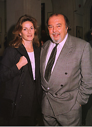 SIR PETER & LADY HALL he is the film and play director, at an exhibition in London on 1st October 1998.MKL 9