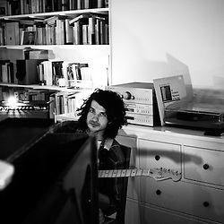 "Beach House, playing at a ""Soiree de Poche"", an event organized by La Blogotheque in someone's appartment. Paris, France. December 2009, 3. Photo: Antoine Doyen"