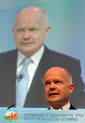 """© under license to London News Pictures. 06/03/2011: William Hague addresses the audience at the Conservative Party's Spring Forum in Cardiff. Credit should read """"Joel Goodman/London News Pictures""""."""