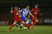 Vahid Hambo and Willem Tomlinson during the Barclays U21 Premier League match between U21 Brighton and Hove Albion and U21 Blackburn Rovers at the Checkatrade.com Stadium, Crawley, England on 4 April 2016.