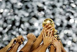 FIFA World Cup 2006 Final : Italy hold aloft the FIFA World Cup Trophy after defeating France on penalties