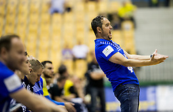 Branko Tamse, coach of Celje reacts during handball match between RK Celje Pivovarna Lasko and RK Gorenje Velenje in Last Round of 1. Liga NLB 2016/17, on June 2, 2017 in Arena Zlatorog, Celje, Slovenia. Photo by Vid Ponikvar / Sportida