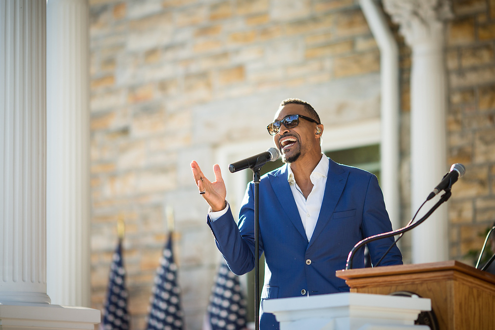 Sean Jones was the main performer at the 2017 4th of July celebration at the United-States Ambassador's Residence over in the Rockliffe area of Ottawa.