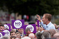 Jim Murphy speech in Edinburgh.<br /> MP to resume referendum campaign tour. Jim Murphy to make the case for the United Kingdom during his 100 Streets in 100 Days project<br /> Pako Mera/Universal News And Sport (Europe) 02/09/2014