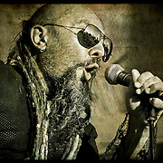Gino Srdjan Yevdjevich on vocals for Kultur Shock live at Global Union in Milwaukee, WI. Photo © Jennifer Rondinelli Reilly. All rights reserved.