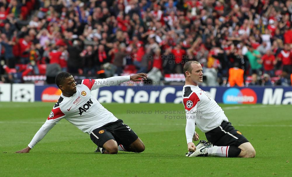 28-05-2011 VOETBAL: CHAMPIONS LEAGUE FINAL FC BARCELONA - MANCHESTER UNITED: LONDON<br /> Wayne Rooney celebrates scoring<br /> ***NETHERLANDS ONLY***<br /> ©2011- FotoHoogendoorn.nl/nph/Mitchell Gunn