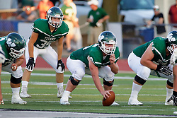 {BLOOMINGTON, IL: Ryan Paslay during a college football game between the IWU Titans  and the Wheaton Thunder on September 15 2018 at Wilder Field in Tucci Stadium in Bloomington, IL. (Photo by Alan Look)