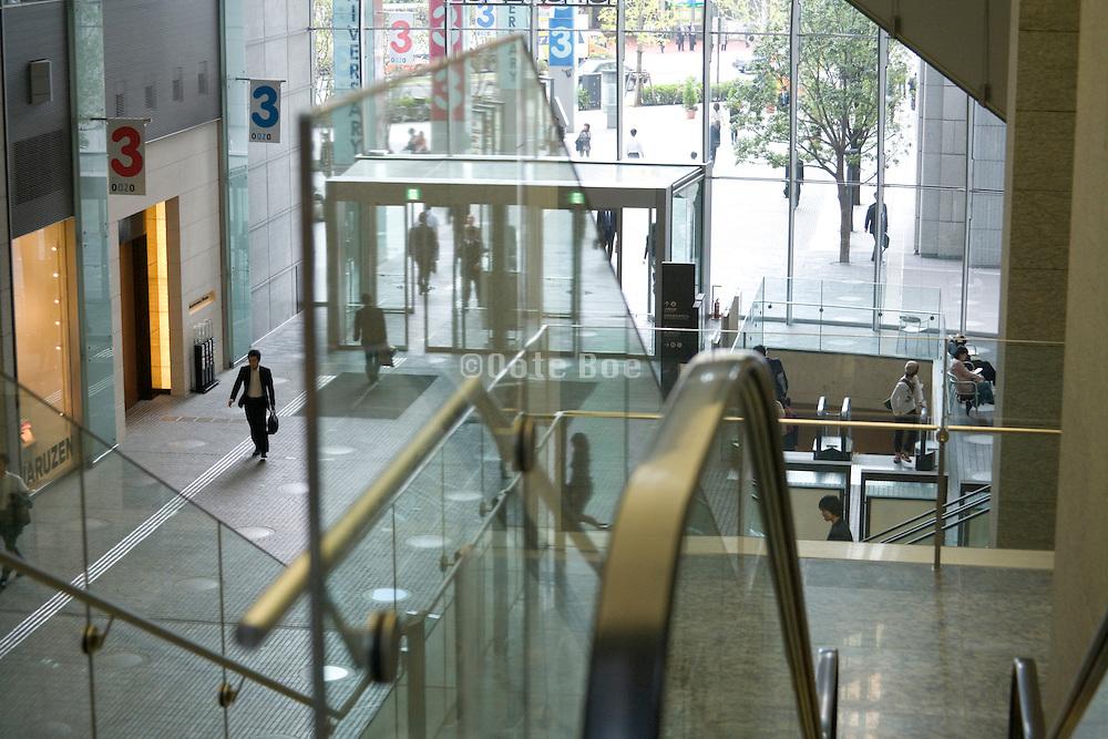 walkway in modern office building
