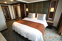 The launch of Royal Caribbean International's Oasis of the Seas, the worlds largest cruise ship..Staterooms.Presidential suite, master bedroom