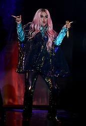 Ke$ha on stage during the MTV Europe Music Awards 2017 held at The SSE Arena, London. Photo credit should read: Doug Peters/EMPICS Entertainment