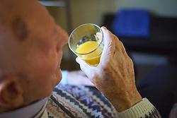 Elderly man in residential home MR