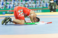 Ashgabat 2017 - 5th Asian Indoor & MartialArts Games 25-09-2017. Wrestling Mens 86kg - Akbarizarinkol (IRI) v A. Umidjon Ismanov (UZB)