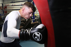 Pat McCormack during a photocall at Birtley boxing club, Gateshead.