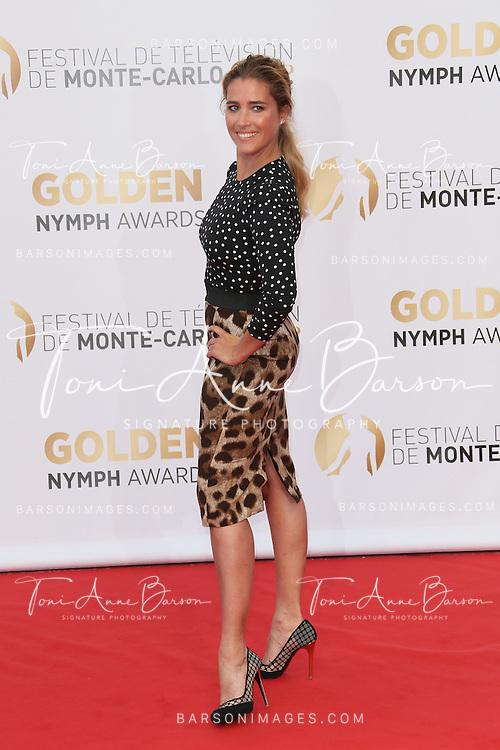 MONTE-CARLO, MONACO - JUNE 11:  Vahina Giocante attends the Closing Ceremony and Golden Nymph Awards of the 54th Monte Carlo TV Festival on June 11, 2014 in Monte-Carlo, Monaco.  (Photo by Tony Barson/FilmMagic)