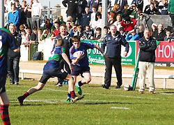 Rice College's Ruairi Keating looks to get past Calasanctius Patrick Griffin...Pic Conor McKeown
