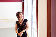 Kelly Munro's husband Steve passed away during the building the newly-opened Atlanta Ballet Michael C. Carlos Dance Centre in Atlanta, Georgia, so she had to step in. She poses in one of several bright studios at the centre September 13, 2010.