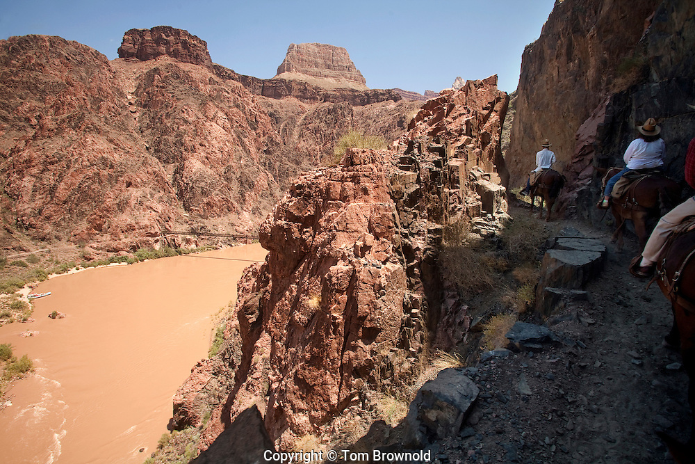 The river trail overlooking the black bridge and colorado river