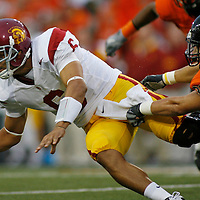 Oregon State upset USC 27-21 in their Pac-10 conference game on Thursday September 25, 2008.