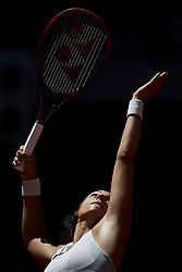 May 10, 2018 - Madrid, Madrid, Spain - Caroline Garcia of France serves in her match against Carla Suarez Navarro of Spain during day six of the Mutua Madrid Open tennis tournament at the Caja Magica on May 10, 2018 in Madrid, Spain  (Credit Image: © David Aliaga/NurPhoto via ZUMA Press)