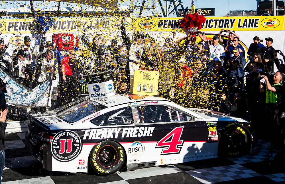 Mar 04, 2018  Las Vegas, NV, U.S.A. # 4 Kevin Harvick in victory lane after winning the Nascar Monster Energy series Pennzoil 400 at Las Vegas Motor Speedway Las Vegas, NV.  Thurman James / CSM