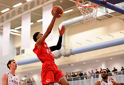 Bristol Flyers' Bree Perine scores a basket  - Photo mandatory by-line: Joe Meredith/JMP - Mobile: 07966 386802 - 18/04/2015 - SPORT - Basketball - Bristol - SGS Wise Campus - Bristol Flyers v Leeds Force - British Basketball League