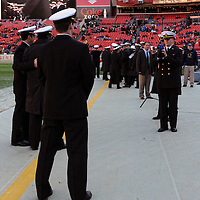 10 December 2011:   A Navy Midshipmen takes a photo of other cadets prior to the game against the Army Black Knights at Fed Ex field in Landover, Md. in the 112th annual Army Navy game where Navy defeated Army, 27-21 for the 10th consecutive time.